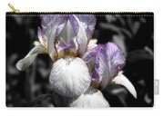 Bearded Irises Partial Color Carry-all Pouch