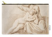 Bearded Man Embracing A Young Woman Carry-all Pouch