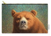 Bearish Carry-all Pouch by James W Johnson