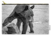 Bear's Log Stash Of Treats - Black And White Carry-all Pouch