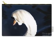 Beautiful Abstract Surreal White Swan Looking Away Carry-all Pouch