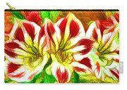 Beautiful Amaryllis Flower Carry-all Pouch