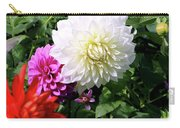 Beautiful And Fresh Dahlias In The Butchrt  Gardens,vancouver Island 1. Carry-all Pouch