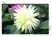 Beautiful And Fresh Dahlias In The Butchrt  Gardens,vancouver Island 2. Carry-all Pouch