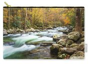 Beautiful Autumn Colors Little Pigeon River Smoky Mountains Carry-all Pouch