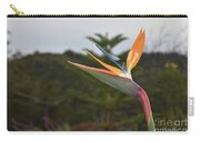 Beautiful Bird Of Paradise Flower In A Tropical Garden  Carry-all Pouch