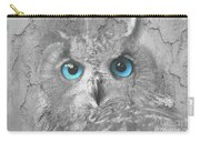 Beautiful Blue-eyed Owl Carry-all Pouch