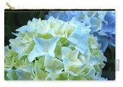 Beautiful Blue Hydrangea Floral Art Prints Creamy White Pastel Carry-all Pouch