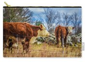Beautiful Bovine With Side Eye Carry-all Pouch