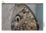 Beautiful Brown Morpho Butterfly Resting In A Butterfly Garden  Carry-all Pouch
