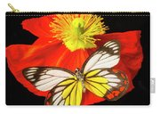 Beautiful Butterfly On Poppy Carry-all Pouch