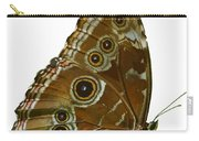 Beautiful Butterfly Wings Of Meadow Brown Isolated Carry-all Pouch