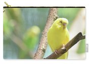 Beautiful Close Up Of A Budgie Parakeet Carry-all Pouch