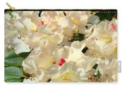 Beautiful Creamy White Pink Rhodies Floral Garden Baslee Troutman Carry-all Pouch