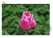 Beautiful Dark Pink Tulip Flower Blossom In A Garden Carry-all Pouch