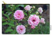 Beautiful Delicate Pink Roses On Green Leaves Background. Carry-all Pouch