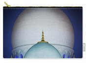 Beautiful Detail At Mosque, Abu Dhabi, United Arab Emirates Carry-all Pouch