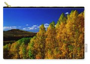 Beautiful Fall Season Nature Renews Itself  Theme Green Trees Mountain N Sky View   Save The Environ Carry-all Pouch