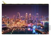 Beautiful Famous Downtown Area In Dubai At Night, Dubai, United Arab Emirates Carry-all Pouch