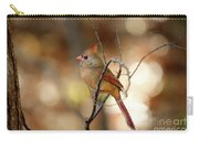 Beautiful Female Cardinal Carry-all Pouch