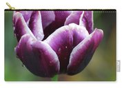 Beautiful Flowering Purple Tulip Flower Blossom In Spring Carry-all Pouch