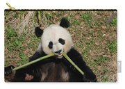 Beautiful Giant Panda Eating Bamboo From The Center Carry-all Pouch