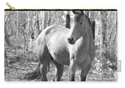 Beautiful Horse In Black And White Carry-all Pouch