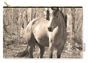Beautiful Horse In Sepia Carry-all Pouch