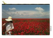 Beautiful Lady And Red Poppies Carry-all Pouch