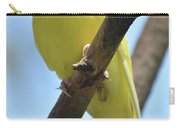 Beautiful Little Yellow Budgie Bird In Nature Carry-all Pouch