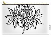 Beautiful Lotus... Black-white Mood Carry-all Pouch