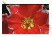 Beautiful Macro Of A Red Blooming Tulip Carry-all Pouch