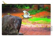Beautiful Moment With A Bird Take Off , Wall Frame, Art Carry-all Pouch