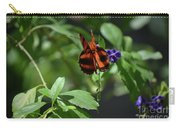 Beautiful Oak Tiger Butterfly On Purple Flowers Carry-all Pouch