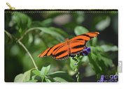 Beautiful Orange Oak Tiger Butterfly In Nature Carry-all Pouch