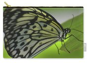Beautiful Paper Kite Butterfly On A Green Leaf Carry-all Pouch