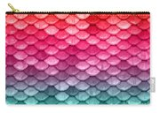Beautiful Pastel Diagonal Rainbow Spectrum II Mermaid Fish Scales Carry-all Pouch