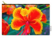 Beautiful Peacock Flower 3 Carry-all Pouch