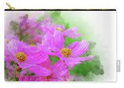 Beautiful Pink Flower Blooming For Background. Carry-all Pouch