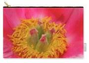 Beautiful Pink Peony Flower Vertical Carry-all Pouch