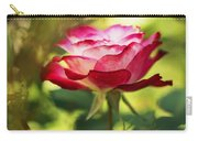 Beautiful Pink Rose Blooming In Garden Carry-all Pouch
