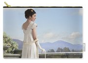 Beautiful Regency Woman Admiring The View From The Terrace Carry-all Pouch