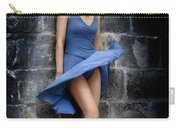 Beautiful Romantic Woman Standing Near A Stone Wall Carry-all Pouch