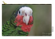 Beautiful Ruffled Green Feathers On A Conure Carry-all Pouch