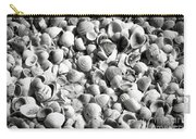 Beautiful Seashells Black And White Carry-all Pouch