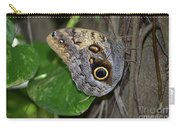 Beautiful Shot Of A Brown Morpho Butterfly Resting  Carry-all Pouch