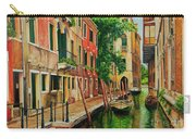 Beautiful Side Canal In Venice Carry-all Pouch by Charlotte Blanchard