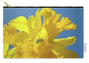 Beautiful Spring Daffodil Bouquet Flowers Blue Sky Art Prints Baslee Troutman Carry-all Pouch