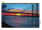 Beautiful Sunset Under The Bridge Carry-all Pouch