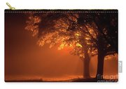 Beautiful Trees At Night With Orange Light Carry-all Pouch
